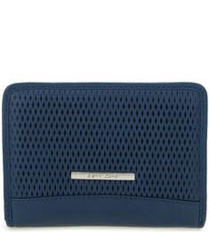 Кожаный кошелек с двумя отделами на кнопках Gianni Conti