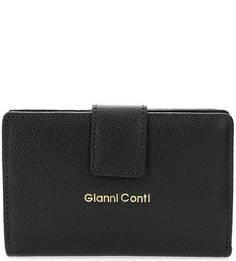 Кошелек черного цвета из сафьяновой кожи Gianni Conti