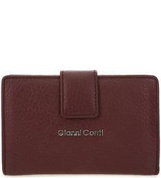 Кожаный кошелек с отделением для мелочи на молнии Gianni Conti