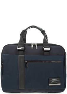 Синяя текстильная сумка с широким плечевым ремнем Samsonite