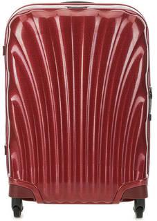 Маленький бордовый чемодан на колесах Samsonite