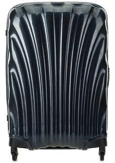 Средний синий чемодан на колесах Samsonite