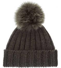 Шерстяная шапка с меховым помпоном Canadian