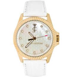 Часы круглой формы с отделкой кристаллами Juicy Couture