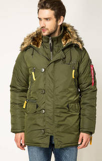 Зимняя куртка цвета хаки Alpha Industries
