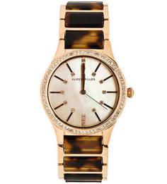 Часы с браслетом из металла и пластика с животным принтом Karen Millen