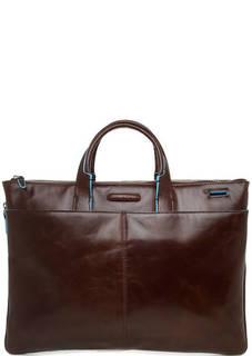 Коричневая сумка из натуральной кожи Piquadro