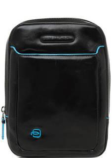 Маленькая кожаная сумка с контрастной отделкой Piquadro