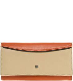 Кожаный кошелек с застежкой на кнопку Sergio Belotti