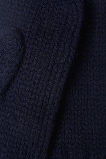 Синие кашемировые варежки Tegin
