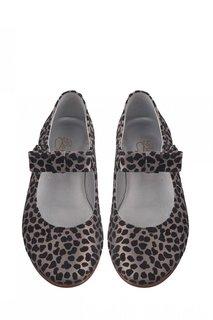 Балетки с леопардовым принтом Eliza Bonpoint