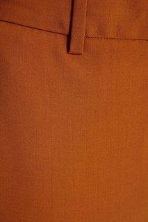 Шерстяные брюки горчичного цвета Theory