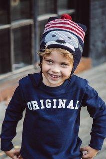 Синяя шапка в полоску Junior Republic