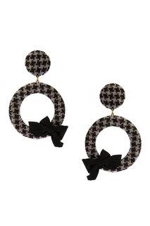 Серьги-кольца с текстильной отделкой Lisa Smith