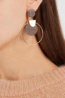 Серьги-кольца с клетчатым декором Lisa Smith