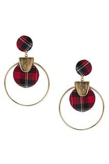 Серьги-кольца с текстильным декором Lisa Smith