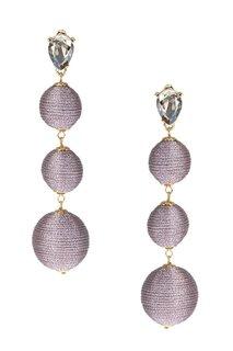 Серьги-шары с отделкой розовыми нитками Lisa Smith