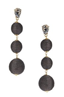 Серьги-шары с отделкой серебристыми нитками Lisa Smith