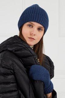 Синяя шапка из шерстяного микса Blank.Moscow