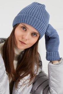Голубая шапка из шерстяного микса Blank.Moscow