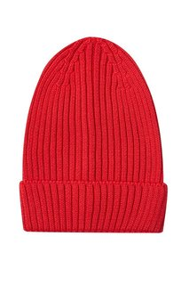 Красная шапка-бини из полушерсти Blank.Moscow