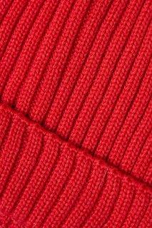 Красная шапка из шерстяного микса Blank.Moscow