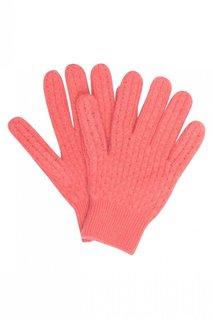 Кашемировые розовые перчатки Bonpoint