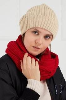 Красный шарф-снуд из полушерсти Blank.Moscow