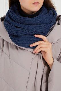 Синий шарф-снуд из полушерсти Blank.Moscow