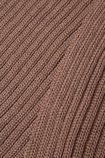 Коричневый шарф-снуд из полушерсти Blank.Moscow