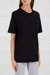 Черная футболка из хлопка Blank.Moscow