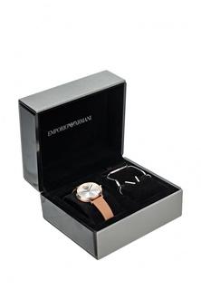 Комплект браслет, серьги и часы Emporio Armani