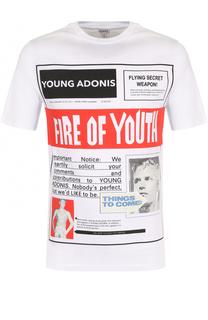 Хлопковая футболка с принтом Loewe