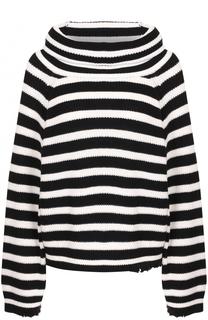 Хлопковый свитер в контрастную полоску RTA