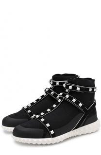Высокие текстильные кроссовки Free Rockstud Valentino