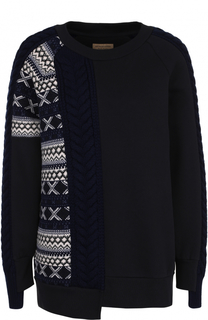 Пуловер прямого кроя с круглым вырезом Burberry