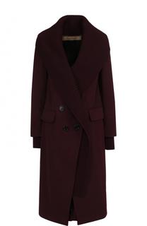 Однотонное кашемировое пальто Burberry