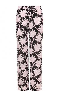 Шелковый брюки с пижамном стиле с принтом Valentino