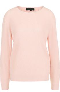 Кашемировый пуловер прямого кроя с круглым вырезом St. John