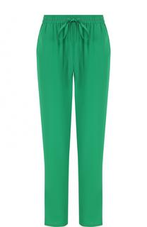 Однотонные шелковые брюки с эластичным поясом REDVALENTINO