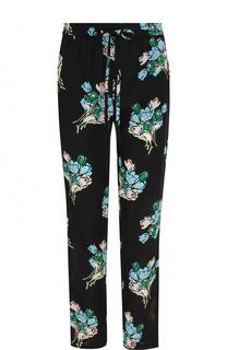 Укороченные шелковые брюки с принтом REDVALENTINO