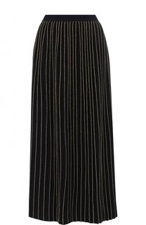Шерстяная юбка-миди с металлизированной нитью Gucci