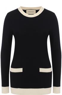 Приталенный пуловер из смеси шерсти и кашемира Gucci
