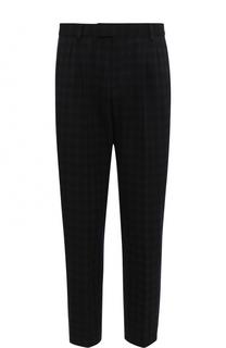 Укороченные брюки из смеси хлопка и шерсти Gucci