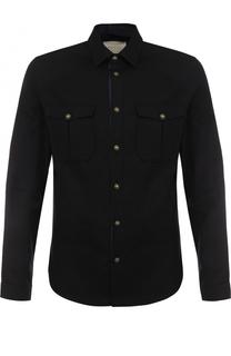 Шерстяная рубашка с воротником кент Gucci
