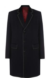 Однобортное пальто из смеси шерсти и кашемира Gucci