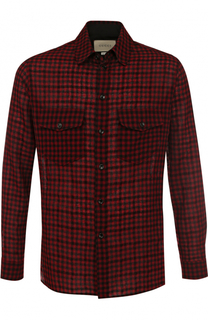 Шерстяная рубашка в клетку Gucci