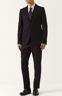 Шерстяной костюм в клетку с пиджаком на двух пуговицах Gucci