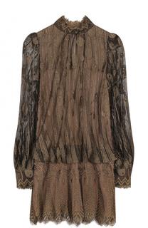 Приталенное полупрозрачное мини-платье Marc Jacobs