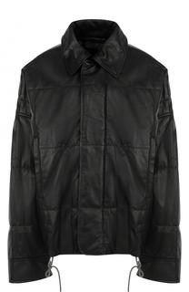 Кожаная куртка свободного кроя с отложным воротником Haider Ackermann